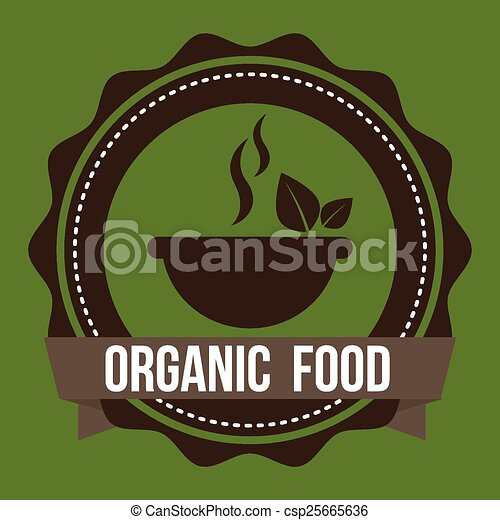 Vectors of organic food design, vector illustration eps10 ...