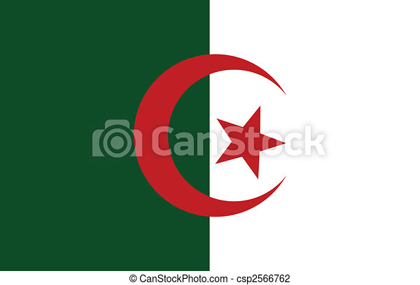Democratic and Popular Republic of Algeria flag - csp2566762