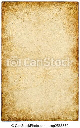 fläckat, papper, gammal - csp2566859