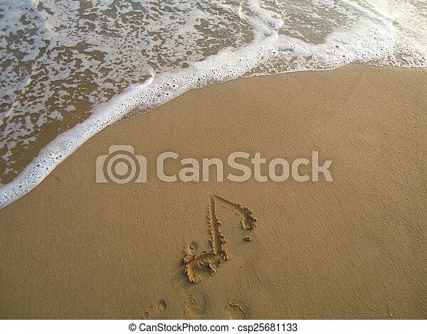 Eight note on beach