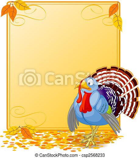 Cartoon Turkey Banner - csp2568233