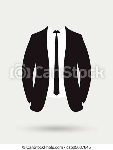 EPS Vector of grooms suit jacket outfit csp25687645 ...