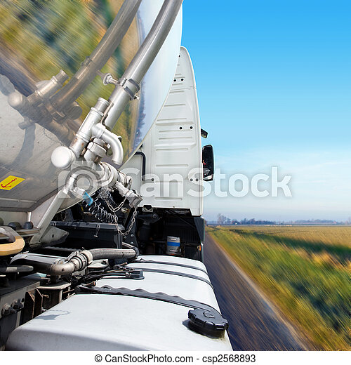 Truck Cab and Tanker Trailer - csp2568893