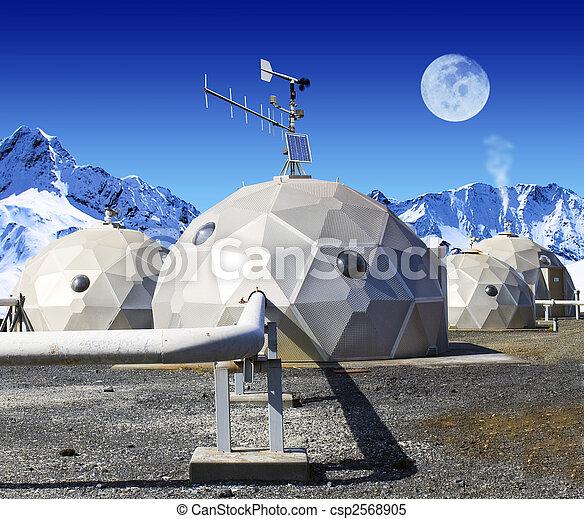 Geo-domes - csp2568905