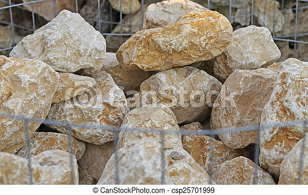 pebbles and stones for sale in building material store