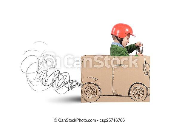 Cardboard car - csp25716766