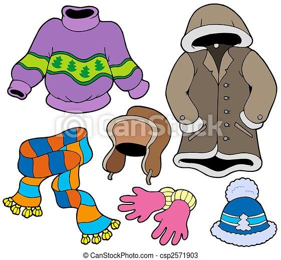 Winter clothes collection 2 - csp2571903