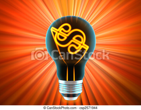 bulb, which represents the profitable idea - csp2571944