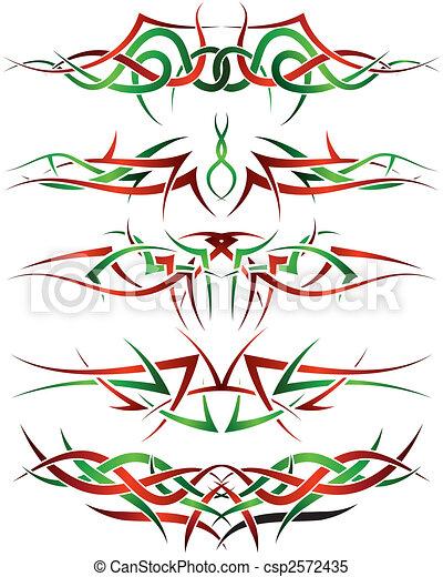 tattoos set - csp2572435