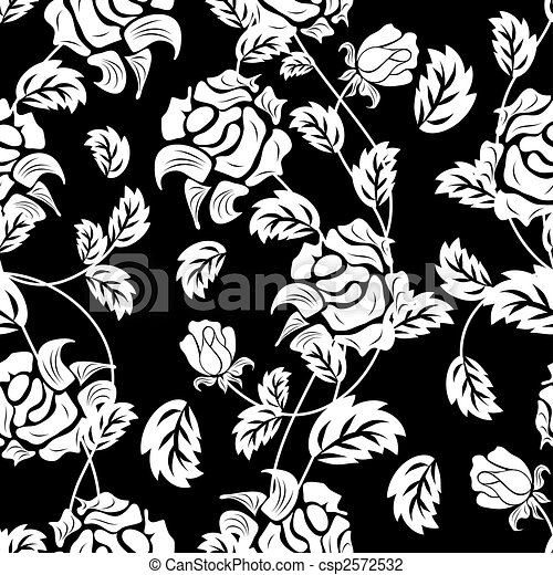 seamless floral background - csp2572532