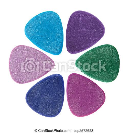 Flower made of guitar picks - csp2572683