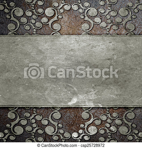 metal plate with ornament