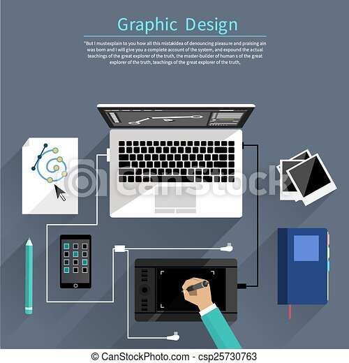 Clip Art Vector Of Graphic Design And Designer Tools
