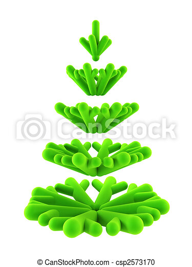 3d symbolic New Year\'s fir tree - csp2573170