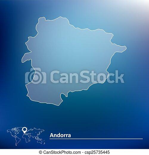 Map of Andorra - csp25735445