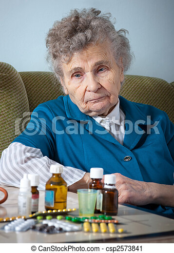 elderly woman - csp2573841