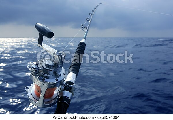 Big game obat fishing in deep sea - csp2574394