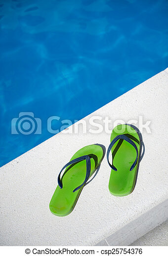 thongs by the pool