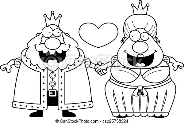 King And Queen Cartoon Drawing Cartoon King And Queen Love