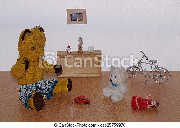 Bear Morulet in play room