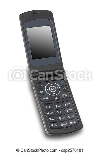Open cellphone, isolated - csp2576181
