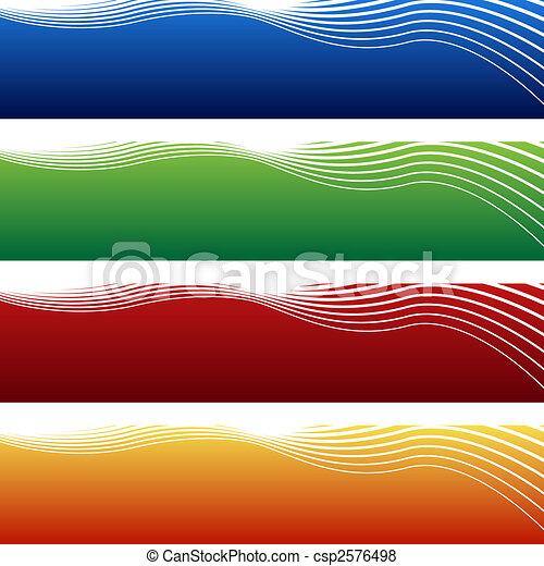 horizontal wave banner - csp2576498