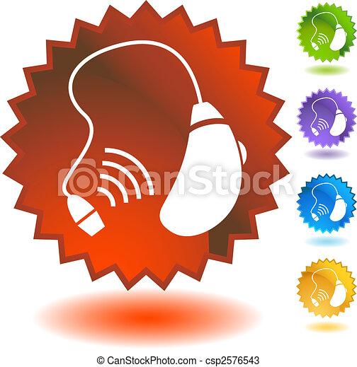 hearing aid icon badge - csp2576543