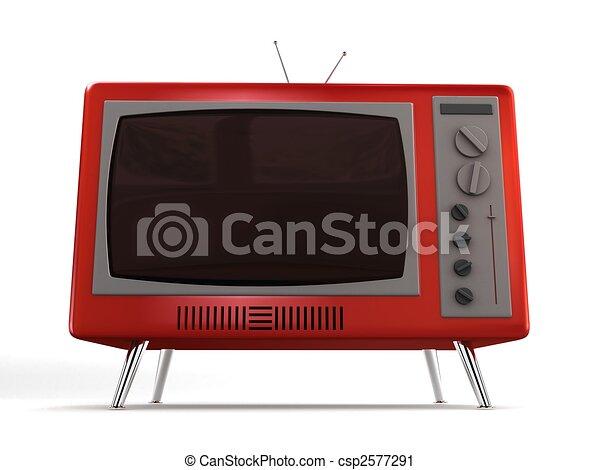 retro tv - csp2577291