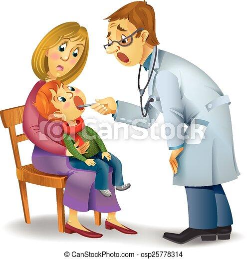 Vector Clip Art of Family doctor - Vector illustration of ...
