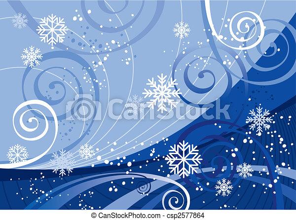 Winter Holidays (vector) - csp2577864