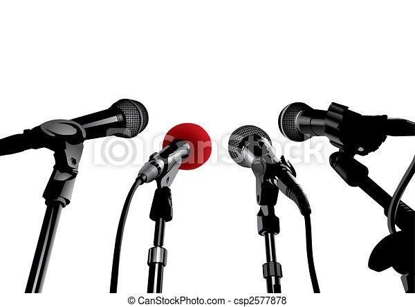 Press Conference (vector) - csp2577878