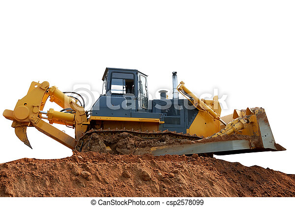 Heavy bulldozer with ripper - csp2578099
