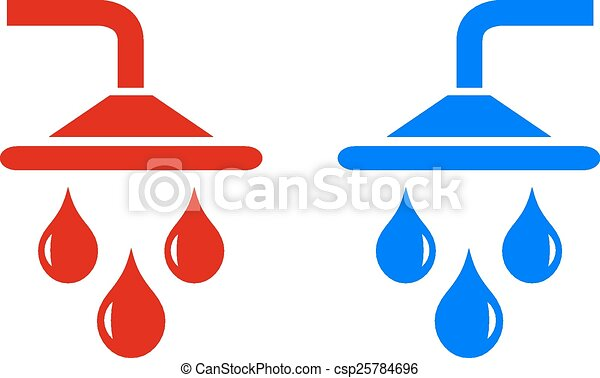 EPS Vectors of Hot cold water icon on white background ...