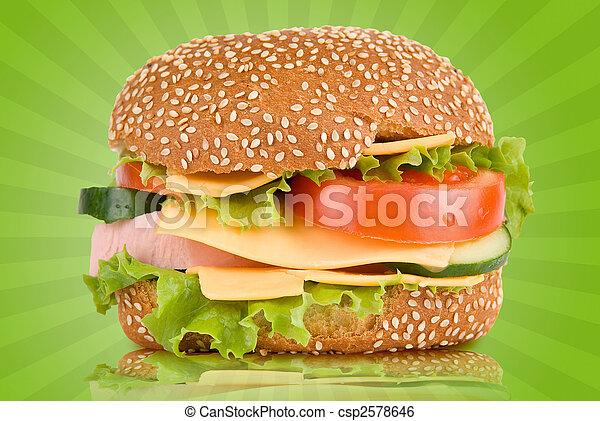 Гамбургер колбасой рецепт фото