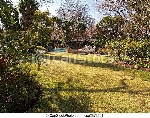 Residential Garden. - csp2578801