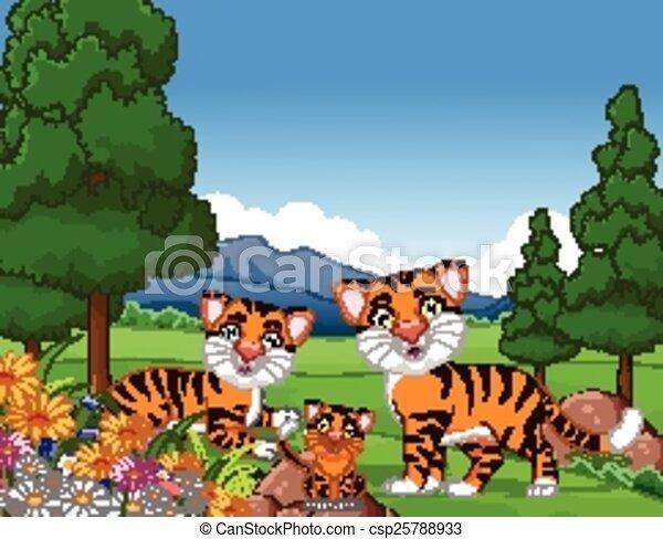 Tiger family drawing - photo#24
