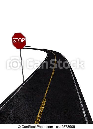 stop sign - csp2578909