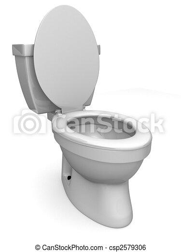 stock illustration of 3d toilet 3d rendered illustration of a simple white csp2579306. Black Bedroom Furniture Sets. Home Design Ideas