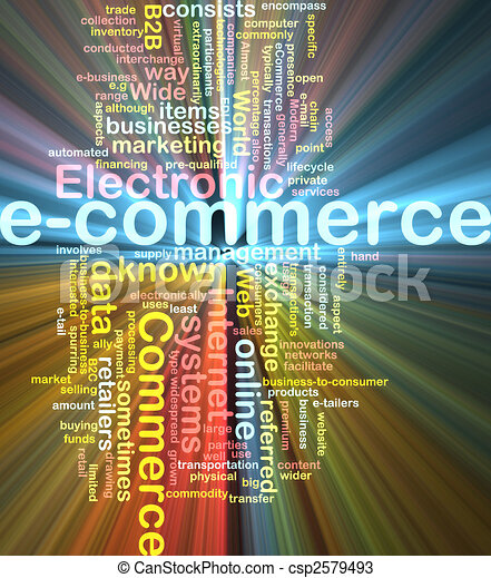 E-commerce word cloud glowing - csp2579493