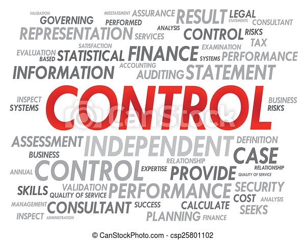 Stock Illustration Of Control Word Cloud Business Concept