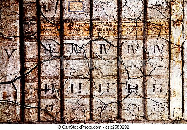 Ancient law books - csp2580232