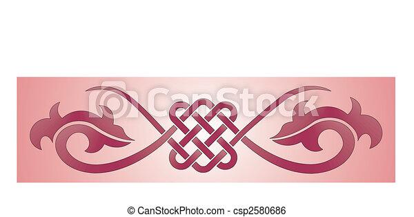 floral ornament - csp2580686