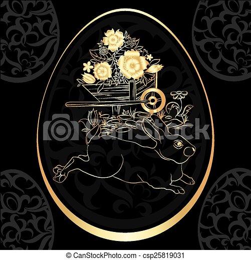 Golden Easter Egg - csp25819031