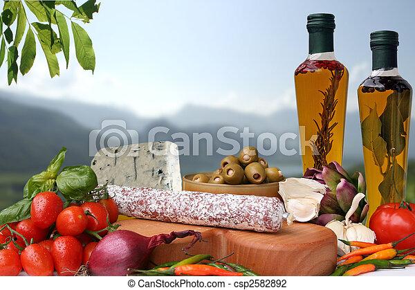 Italian food - csp2582892