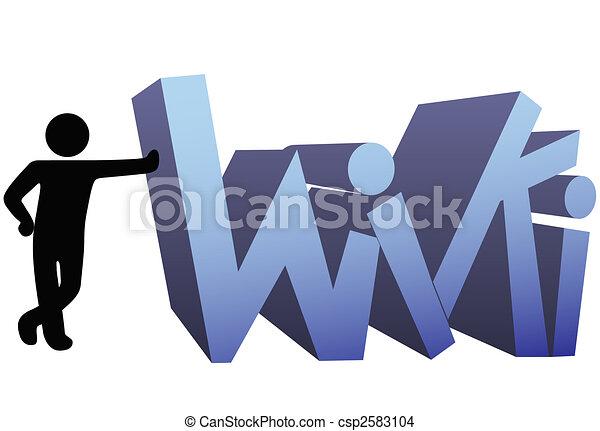 Wiki information people symbol icon - csp2583104