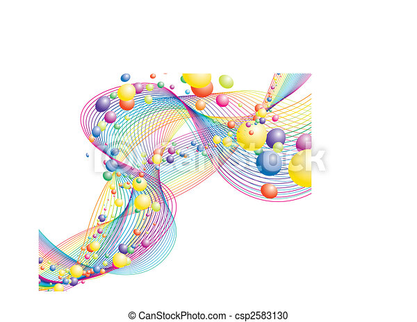 colourful lines - csp2583130