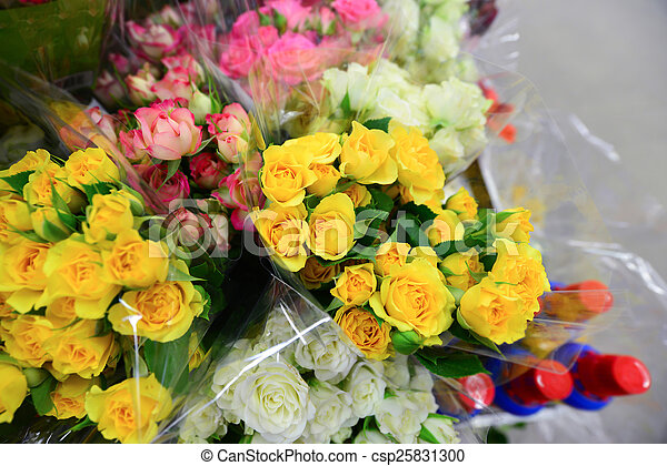 Stock photography of flower bouquet with a lot of for A lot of different flowers make a bouquet