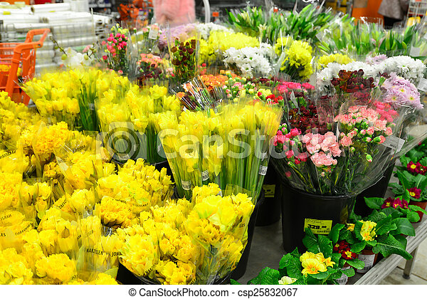 flower bouquet with a lot of royalty free stock image