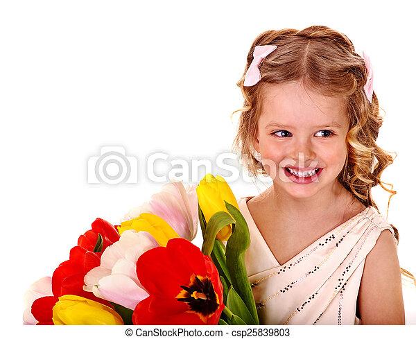 春, flower., 子供 - csp25839803