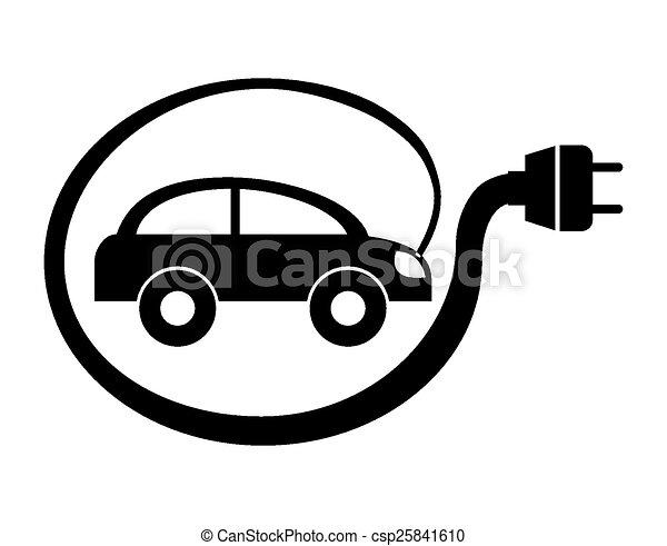 Vector Clip Art Of Electric Car Design Vector Illustration